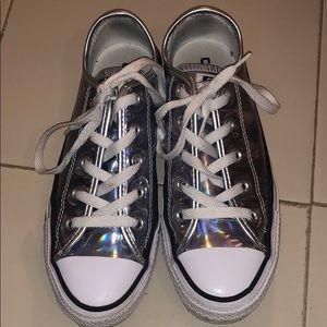CONVERSE ALL STAR HOLOGRAPHIC SHINY SNEAKERS